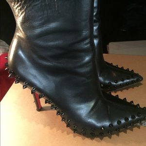 Christian Louboutin spiked bootie